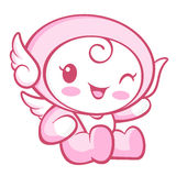 Flexibility as possible a sets of Cherub Mascot. Angel Character Royalty Free Stock Photos