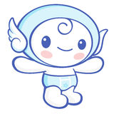 Flexibility as possible a sets of Cherub Mascot. Angel Character Stock Photography