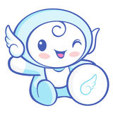 Flexibility as possible a sets of Cherub Mascot. Angel Character Royalty Free Stock Image