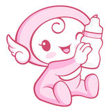 Flexibility as possible a sets of Cherub Mascot. Angel Character Royalty Free Stock Photography