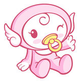 Flexibility as possible a sets of Cherub Mascot. Angel Character Stock Image