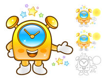 Flexibility as possible a sets of Clock Mascot. Appliances Items Stock Image