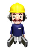 Flexibility as possible a sets of Construction site man Royalty Free Stock Photos