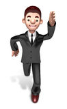 Flexibility as possible a sets of 3D Business man Character Royalty Free Stock Photo