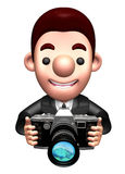 Flexibility as possible a sets of 3D Business man Character Stock Photography