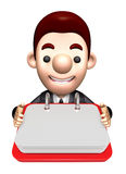 Flexibility as possible a sets of 3D Business man Character Stock Photos