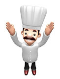 Flexibility as possible a sets of 3D Chef Character. Work and Jo Stock Photography
