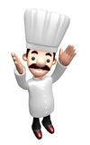 Flexibility as possible a sets of 3D Chef Character. Work and Jo Stock Image