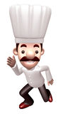 Flexibility as possible a sets of 3D Chef Character Stock Image