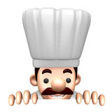 Flexibility as possible a sets of 3D Chef Character Royalty Free Stock Images