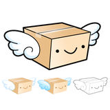 Flexibility as possible a sets of Delivery Box Mascot. Product a Stock Image