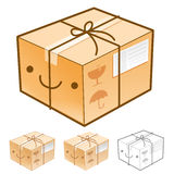 Flexibility as possible a sets of Delivery Box Mascot. Product a Royalty Free Stock Images