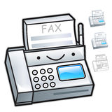 Flexibility as possible a sets of fax machine Mascot. Appliances Royalty Free Stock Photography