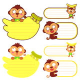 Flexibility as possible a sets of Monkey Mascot. Animal Characte Stock Photos