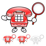 Flexibility as possible a sets of Phone Mascot. Appliances Items Royalty Free Stock Image