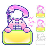 Flexibility as possible a sets of Phone Mascot. Appliances Items Royalty Free Stock Photography