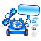 Flexibility as possible a sets of Phone Mascot. Appliances Items Stock Photo