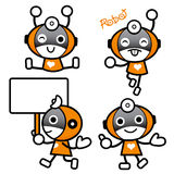Flexibility as possible a sets of Robot Mascot. Appliances and H Stock Images