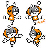 Flexibility as possible a sets of Robot Mascot. Appliances and H Royalty Free Stock Photography