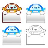 Flexibility as possible a sets of Taxi Mascot. Product and Distr Royalty Free Stock Images