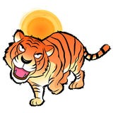 Flexibility as possible a Tiger Mascot. Korea Traditional Cultur Stock Photography