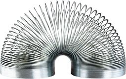 Flexibility. Metal Coil Springs Toy Physics Old-fashioned Stretching Royalty Free Stock Photography
