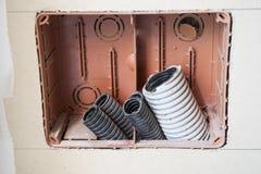 Flexible électrique enfermé dans une boîte Photos libres de droits