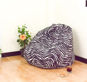 Flexible and adjustable seat beanbag Royalty Free Stock Image