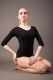 Flexible athletic woman Royalty Free Stock Image
