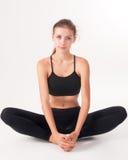 Flexible athletic woman Royalty Free Stock Photo