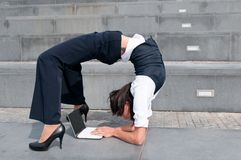 Flexible business - woman Stock Images