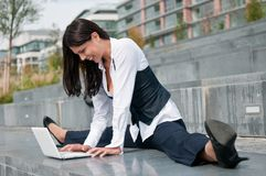 Flexible business - woman Stock Photography
