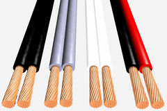 Flexible cables 3D Stock Image