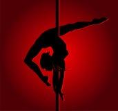 Flexible dancing girl. Vector illustration Stock Image