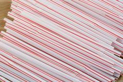 Flexible drinking straws Stock Photography