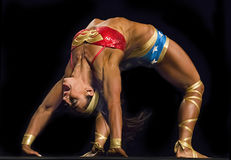 Flexible Fitness Athletes Perform in Vancouver Royalty Free Stock Image