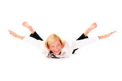 Flexible Frau Stockfoto