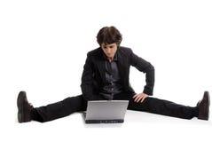 Flexible Geschäftsfrau stockfotos