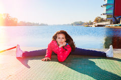 Flexible girl body Royalty Free Stock Images