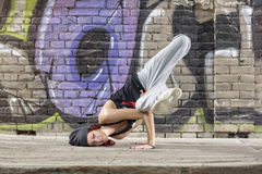 Flexible girl dance hip hop Royalty Free Stock Photography