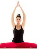 Flexible girl doing stretching pilates exercise Royalty Free Stock Photo