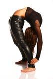 Flexible girl stretching Royalty Free Stock Photos
