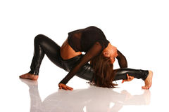 Flexible girl stretching Stock Photo