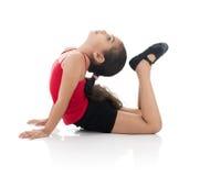 Flexible Girl. Flexible Young Girl Isolated on White Background Stock Photos
