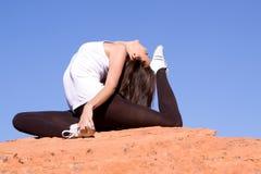 Flexible gymnast Royalty Free Stock Image