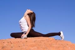 Flexible gymnast Royalty Free Stock Photo