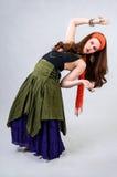 Flexible gypsy girl Stock Images