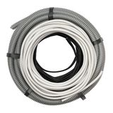 Flexible hose and electric cable Royalty Free Stock Image