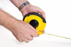 Flexible measuring tape Royalty Free Stock Photography