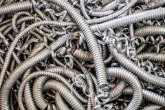 Flexible metal hose Stock Photos